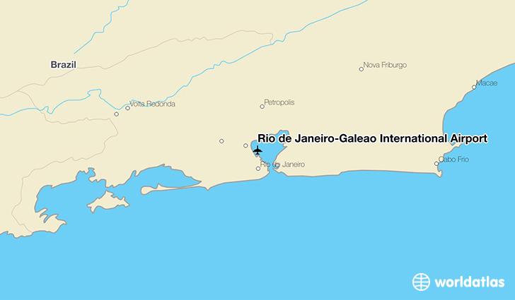 Rio Gig Airport Map Rio de Janeiro Galeão International Airport (GIG)   WorldAtlas