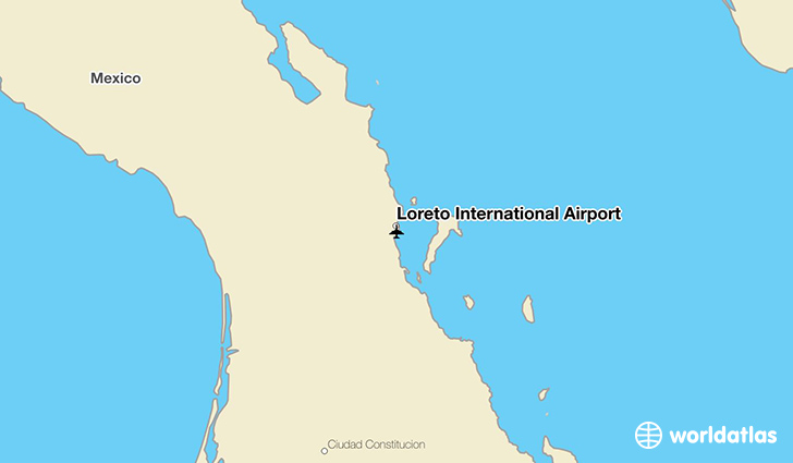 Loreto International Airport location on a map
