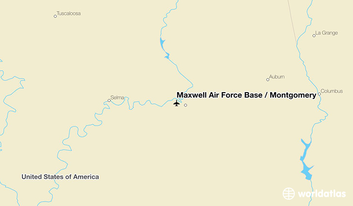 Maxwell Air Force Base / Montgomery location on a map
