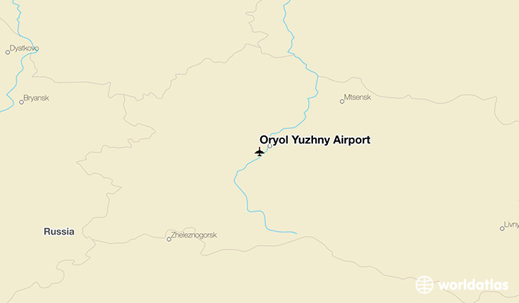 Oryol Yuzhny Airport location on a map