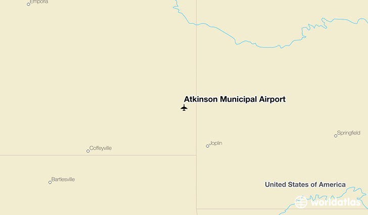 Atkinson Municipal Airport location on a map