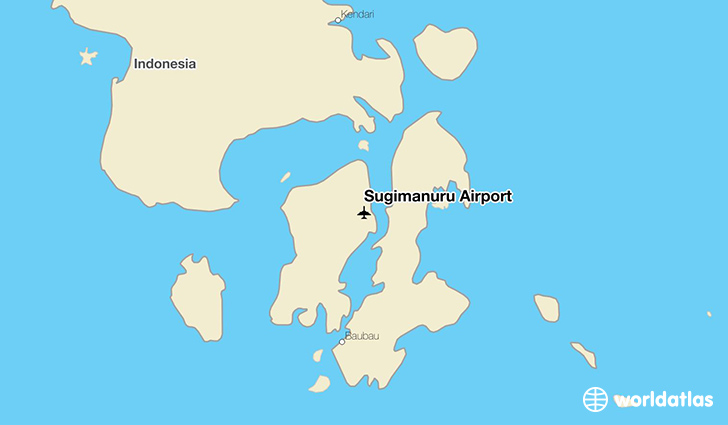 Sugimanuru Airport location on a map