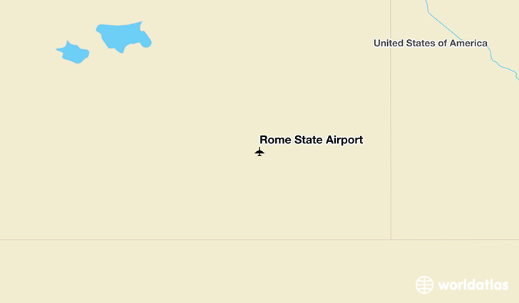 Rome State Airport location on a map