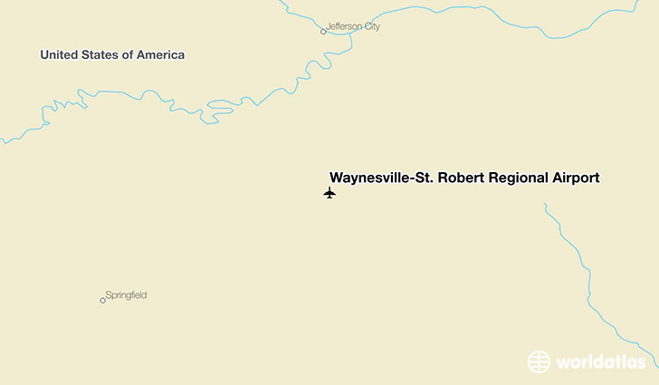 Waynesville-St. Robert Regional Airport location on a map