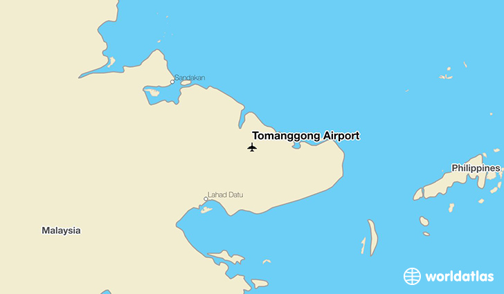 Tomanggong Airport location on a map