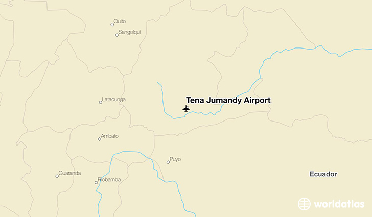Tena Jumandy Airport location on a map