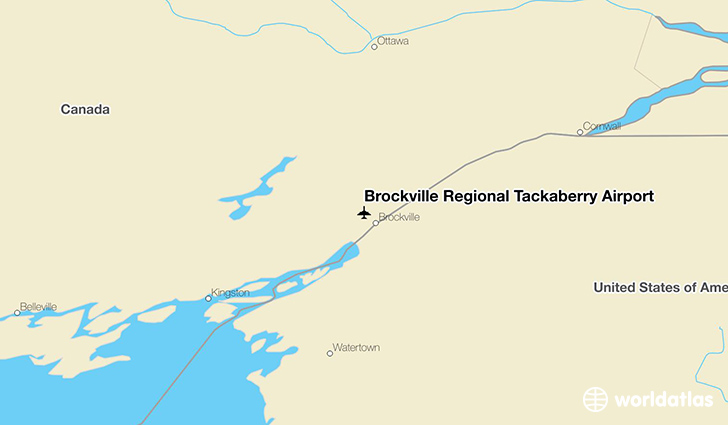 Brockville Regional Tackaberry Airport location on a map