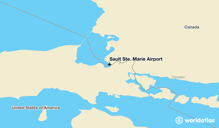 Sault Ste. Marie Airport location on a map