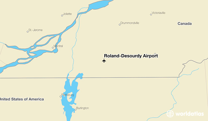 Roland-Désourdy Airport location on a map