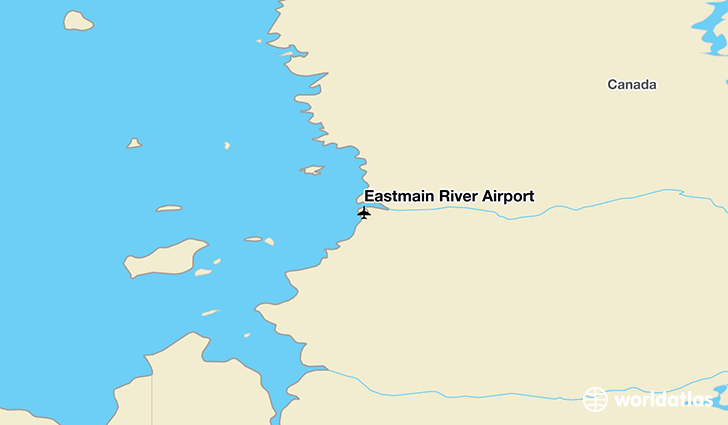 Eastmain River Airport location on a map