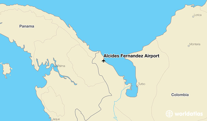 Alcides Fernández Airport location on a map