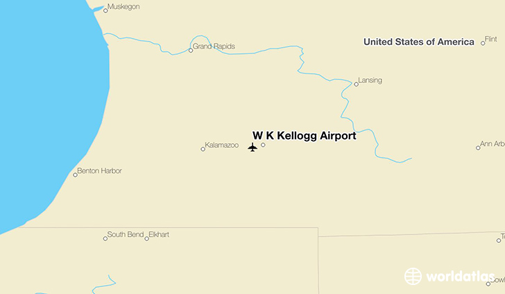 W K Kellogg Airport location on a map