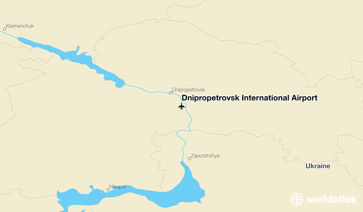 Dnipropetrovsk International Airport location on a map