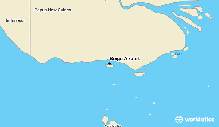 Boigu Airport location on a map