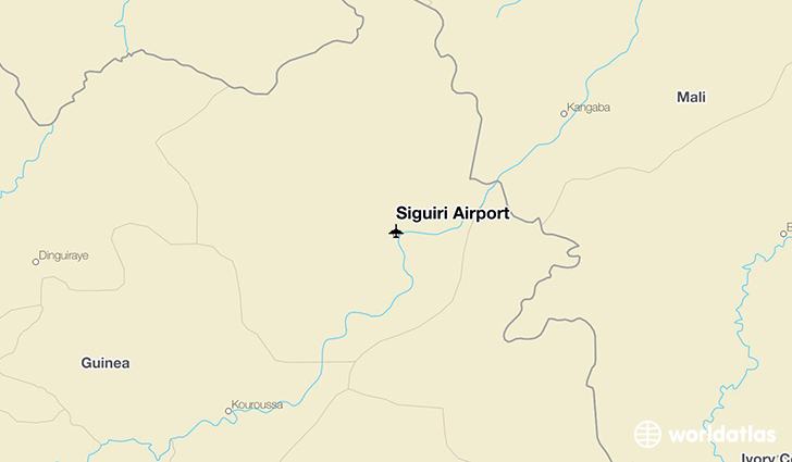 Siguiri Airport location on a map
