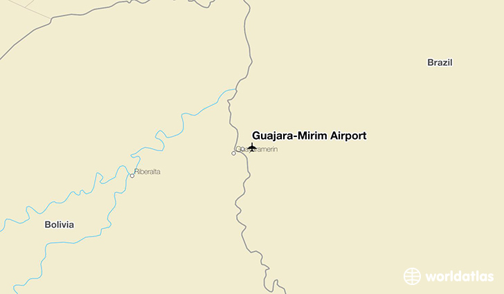 Guajará-Mirim Airport location on a map