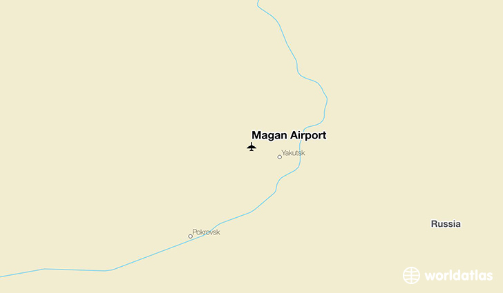 Magan Airport location on a map