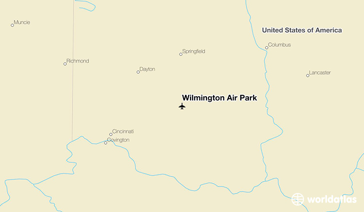 Wilmington Air Park location on a map
