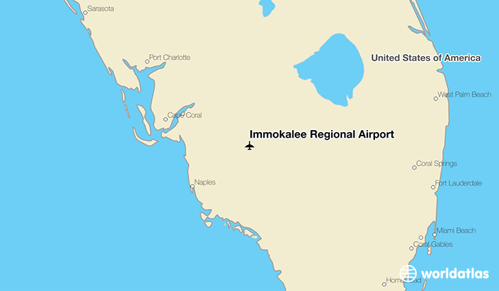 Immokalee Regional Airport location on a map