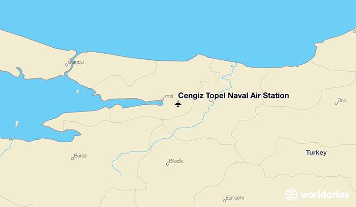 Cengiz Topel Naval Air Station location on a map