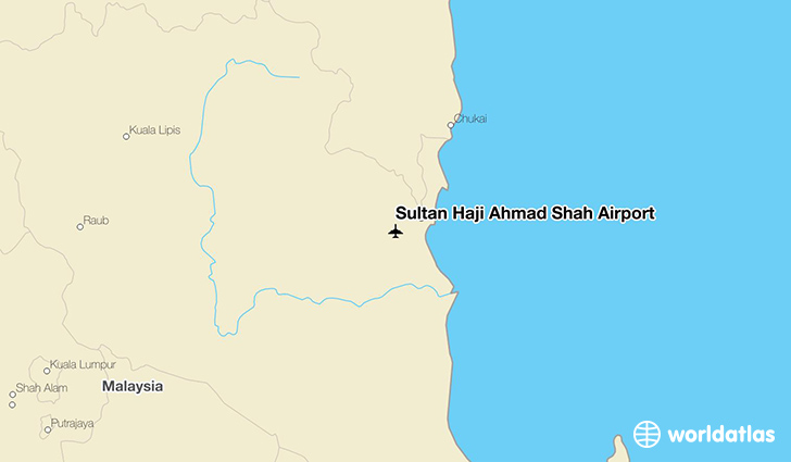 Sultan Haji Ahmad Shah Airport location on a map