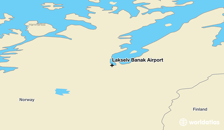 Lakselv Banak Airport location on a map
