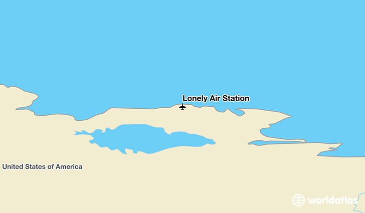 Lonely Air Station location on a map