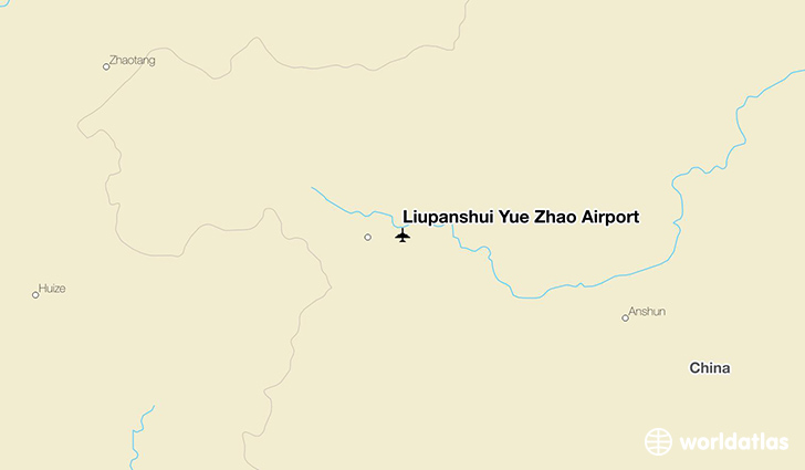 Liupanshui Yue Zhao Airport location on a map
