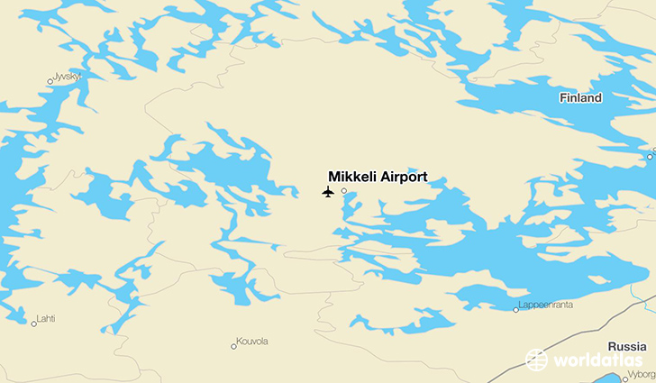 Mikkeli Airport location on a map