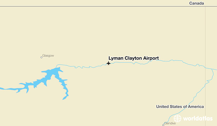 Lyman Clayton Airport location on a map
