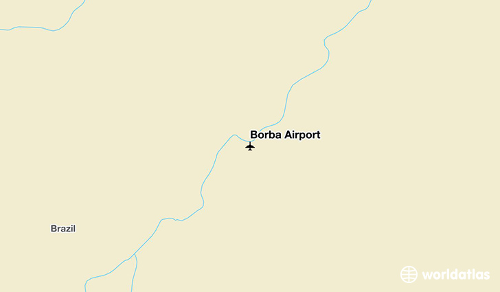 Borba Airport location on a map