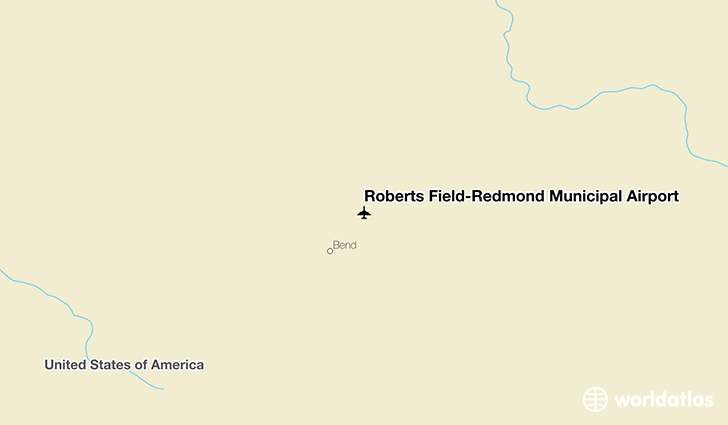 Roberts Field-Redmond Municipal Airport location on a map
