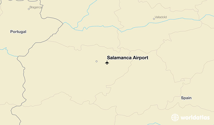 Salamanca Airport location on a map