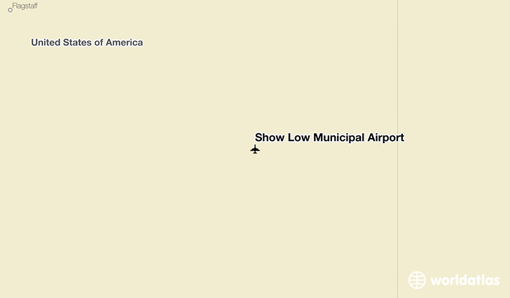 Show Low Municipal Airport location on a map