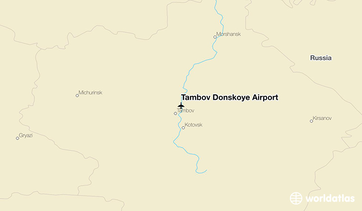 Tambov Donskoye Airport location on a map
