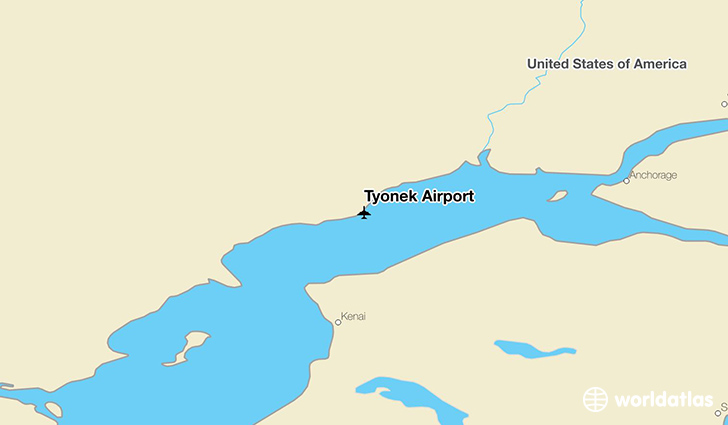 Tyonek Airport location on a map