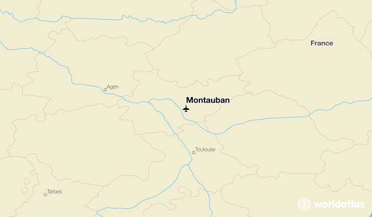 Montauban location on a map