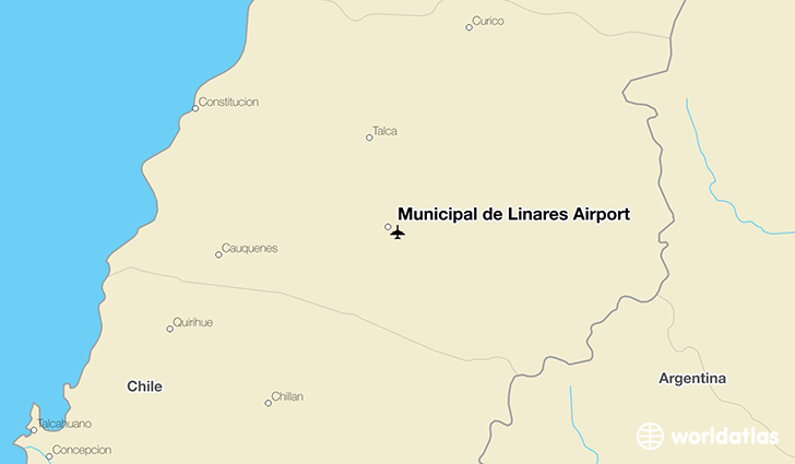 Municipal de Linares Airport location on a map
