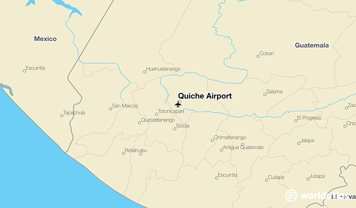 Quiché Airport location on a map