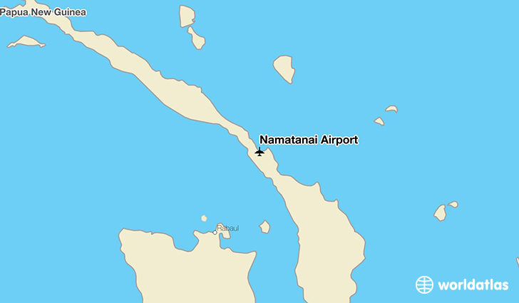 Namatanai Airport location on a map