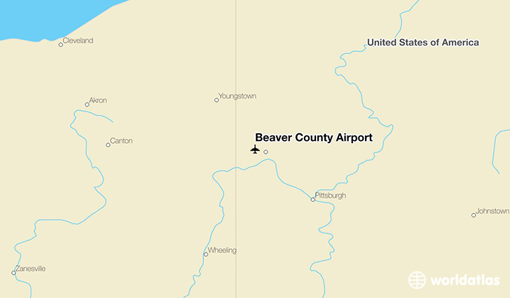 Beaver County Airport location on a map