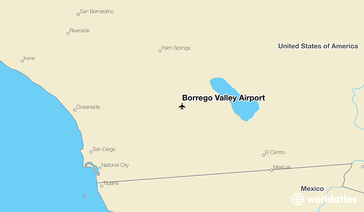 Borrego Valley Airport location on a map