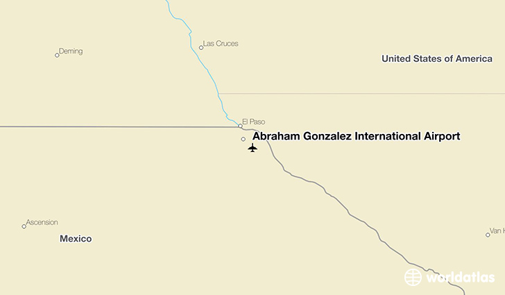 Abraham González International Airport location on a map