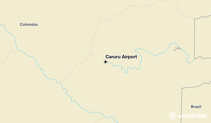 Carurú Airport location on a map