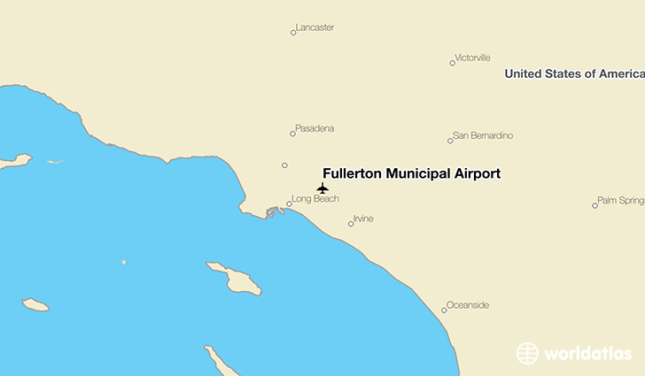 Fullerton Municipal Airport location on a map