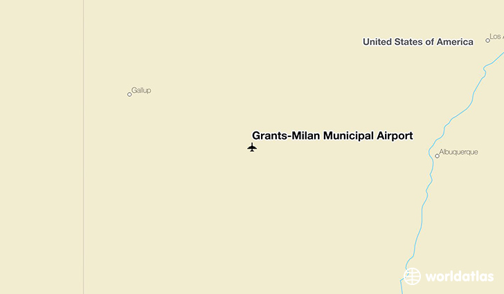Grants-Milan Municipal Airport location on a map