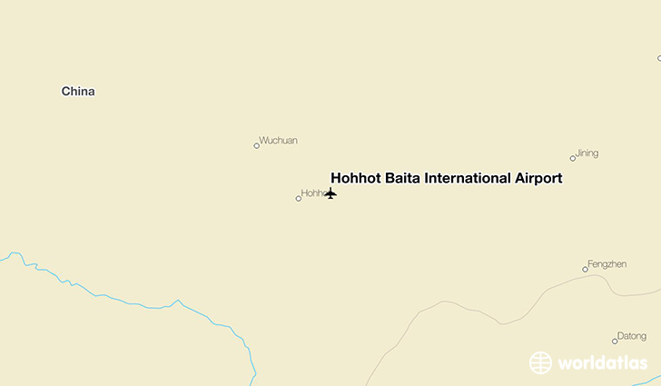 Hohhot Baita International Airport location on a map