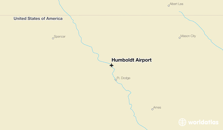 Humboldt Airport location on a map