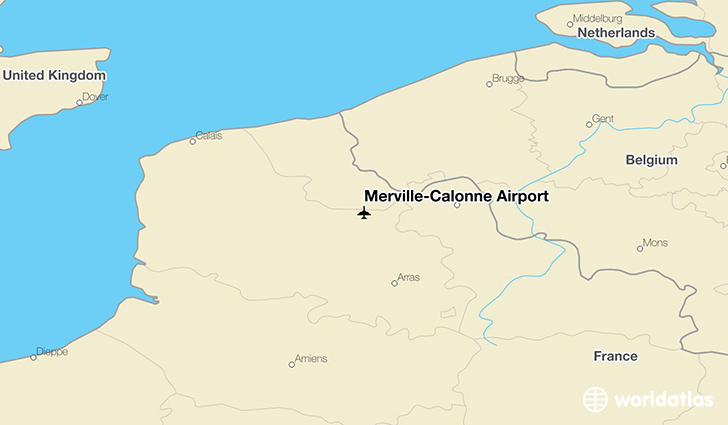 Merville–Calonne Airport location on a map