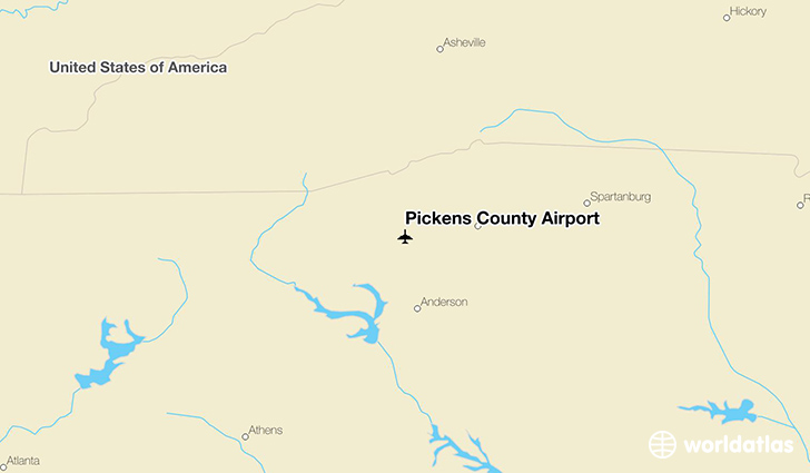 Pickens County Airport location on a map